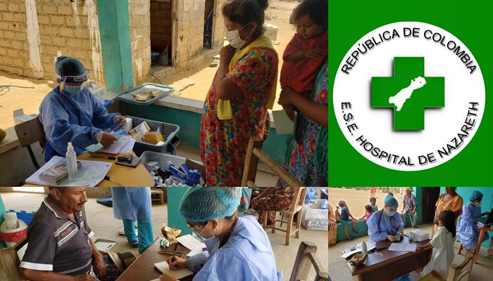 Más de 90 personas de la etnia indígena Wayuu atendidas en brigada médica por el Hospital de Nazareth