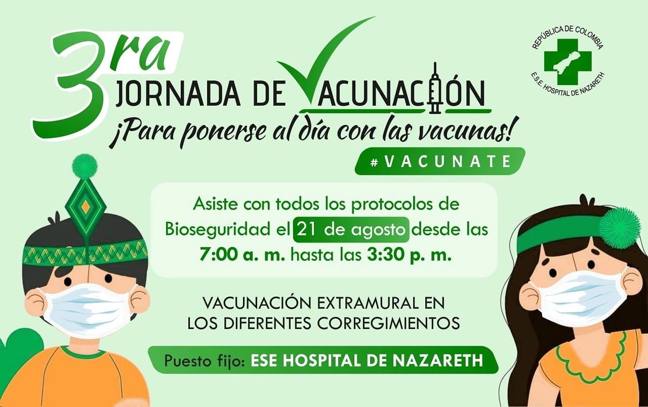 Tercera Jornada de Vacunacion ¡Vacunate!